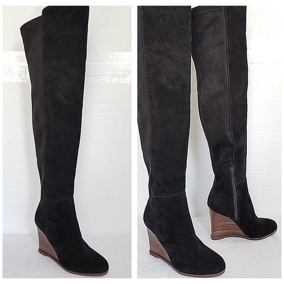 e0fcd1db192 Vince Camuto Granta Tall Wedge Boots Black 6M NEW.  M 5b7dca07fe515198108e0115